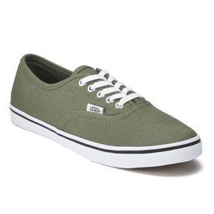 Vans Lo Pro Green Lace-Up Shoes